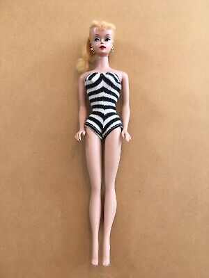 Vintage Mattel Blond Ponytail Barbie Doll, OSS Straight Legs, Some Green Ear