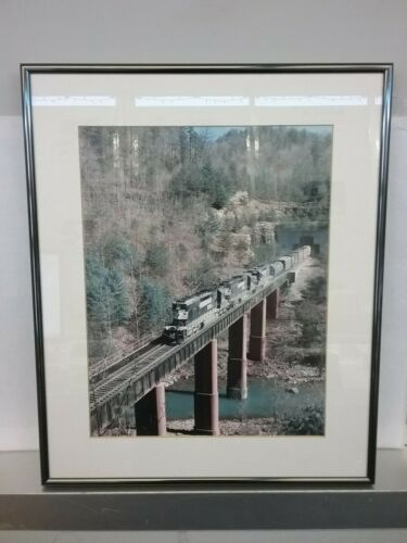 "Norfolk Southern Freight Train Photograph Framed 17"" x 14"""