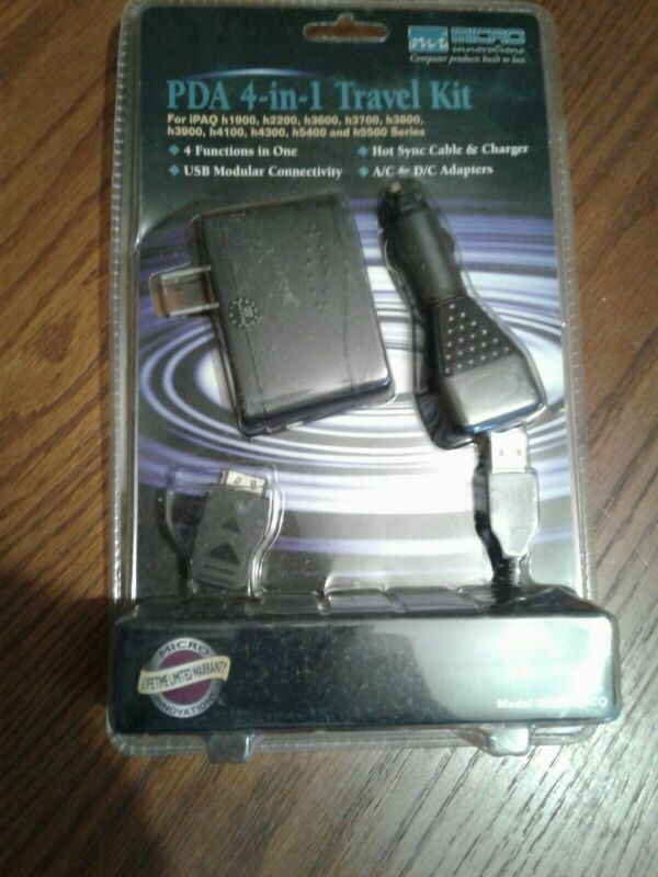 Micro Innovations THTC400CQ Micro PDA AC/DC Adapter and USB Cable Kit.BRAND NEW.