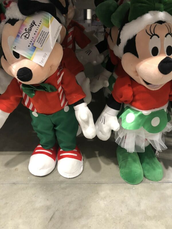 NWT Disney Christmas Mickey And Minnie Porch Greeters Magic Holiday 2021