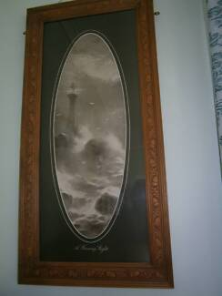 ANTIQUE WOODEN FRAMES with nice prints