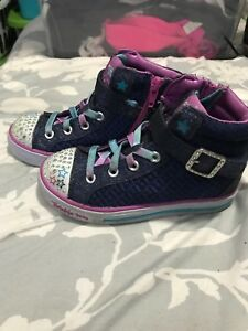 Girls youth size 12 Sketchers hi tops brand new