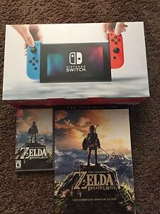 Nintendo switch Neon +Zelda and guide
