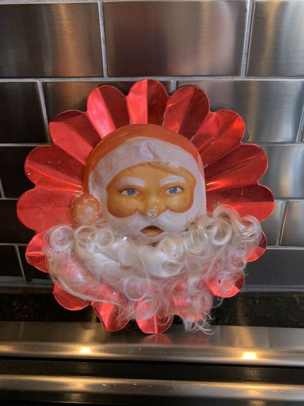 VINTAGE CHRISTMAS TREE TOPPER SANTA CLAUS RETRO COLLECTIBLE #1