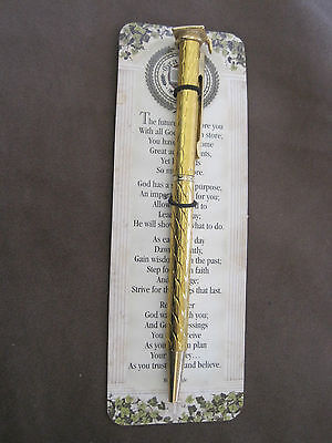 Graduation Pen Religious on Card Gift Gold Tone NOS Gift](Religious Graduation Gifts)