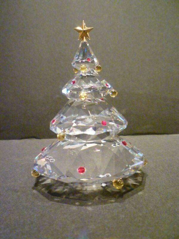 SWAROVSKI CRYSTAL FIGURINE CHRISTMAS TREE 266945 WITH COA NIB NICE GIFT!