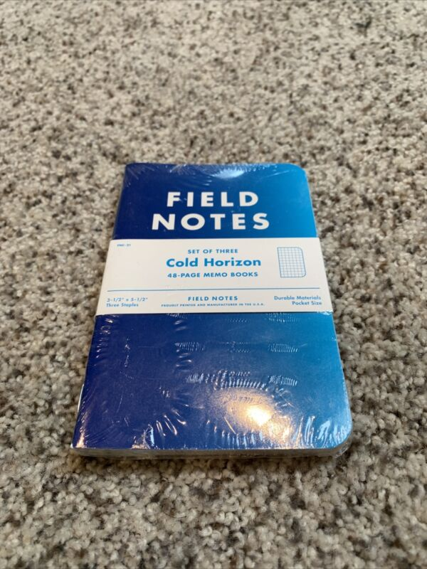 Field Notes Notebooks:  Cold Horizon - Pack of 3 Memo Books - New & Sealed