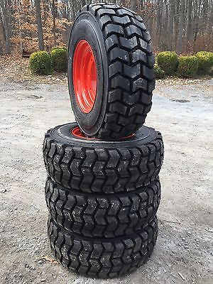 4 New 12-16.5 Skid Steer Tiresrims For Bobcat A300a770s750s770s740