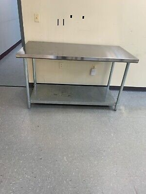 30 X 72 Stainless Steel Work Prep Table Commercial 18 Gauge With Under Shelf