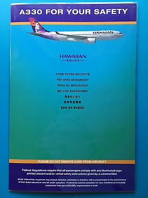 HAWAIIAN  AIRLINES SAFETY CARD -- AIRBUS 330--2014 REV.