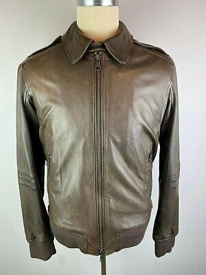 BURBERRY BRIT DYLAN BROWN LAMBSKIN LEATHER BOMBER JACKET M RRP £1295 EXCELLENT