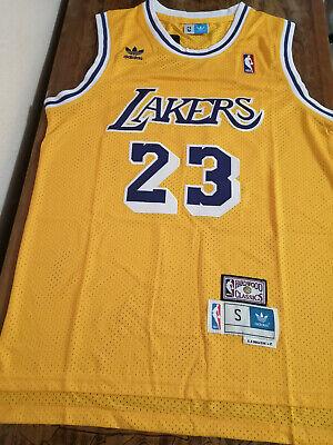 LEBRON CAMISETA DE LA NBA DE LOS LAKERS AMARILLA RETRO.TALLA XL,2XL.