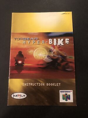 Top Gear Hyper Bike N64 Manual