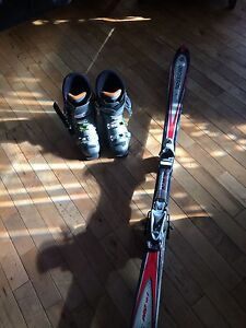 Downhill boots and skis