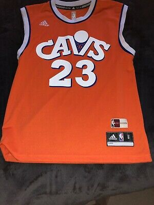 74e038619 Men's Small Adidas Cleveland Cavaliers Orange LeBron James Jersey