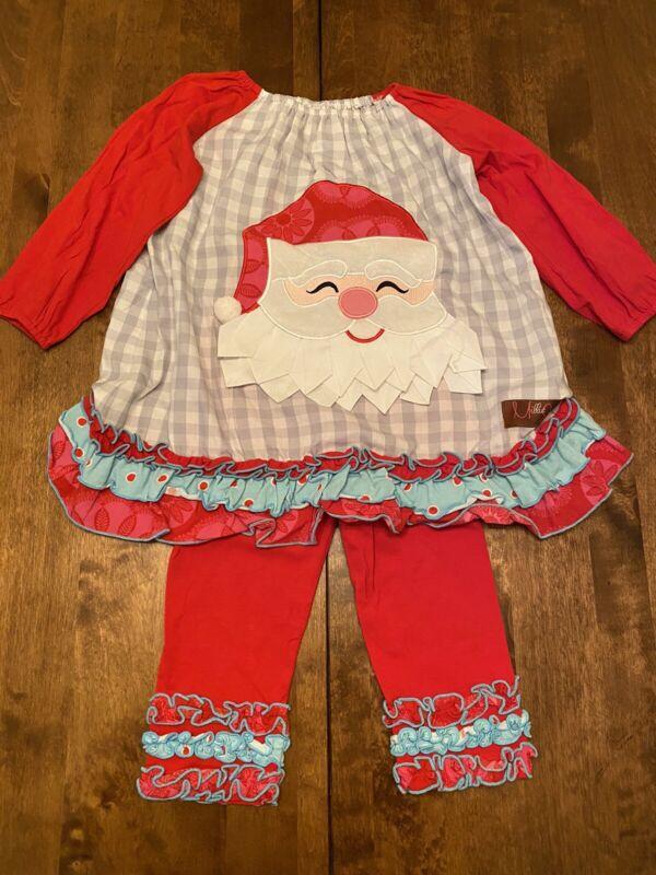 Millie Jay Christmas Santa 2 pc Pants Leggings Set 3t
