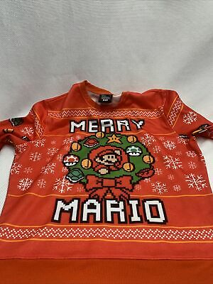 BNWT Nintendo Super Mario Bros. Merry Mario Holiday Men's Ugly Sweater Sz XL
