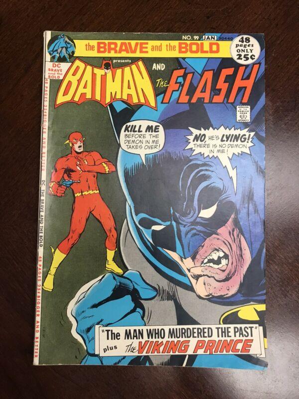 Brave & The Bold # 99 Batman & Flash Neal Adams cover Nice Bronze Age Book 1972