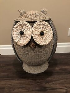 Wicker Children's Owl Laundry Basket