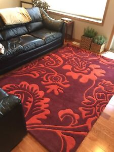 BRAND NEW EQ3 100% WOOL RUG. MADE IN INDIA