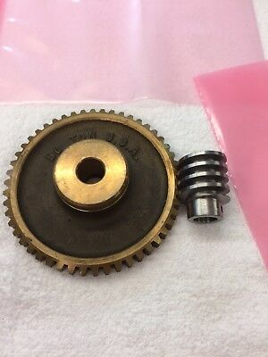 Matching Pair Boston Gear Bronze Worm Gear Gb1063-gh1066rh 10 Pitch 501 Ratio