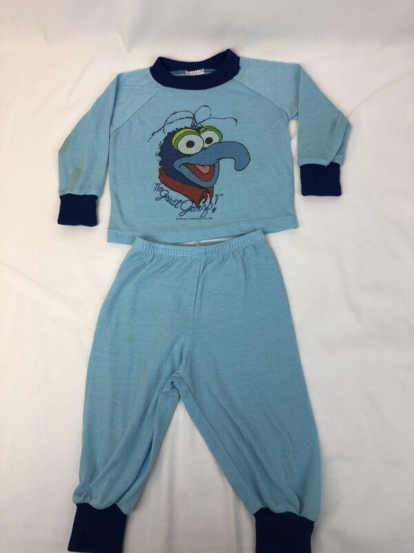 Vintage Gonzo Muppets Kids Pajamas 1981 80s