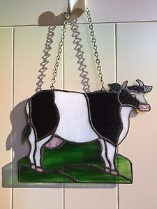 Cow leadlight stained glass handmade Currumbin Gold Coast South Preview