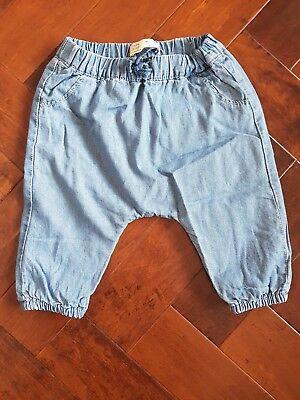 Usado, Zara Mini Elasticated Denim Style Trousers 1-3 Months comprar usado  Enviando para Brazil