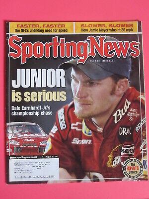 Dale Earnhardt Jr The Sporting News Magazine August 25  2003 Nascar