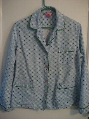 PINK Victorias Secret Flannel Pajama Set Blue Dog Logo MED