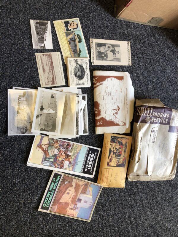 Vintage 1930's Ephemera Lot Of 34 Indians Of New Mexico Navajo RPPC Post Card