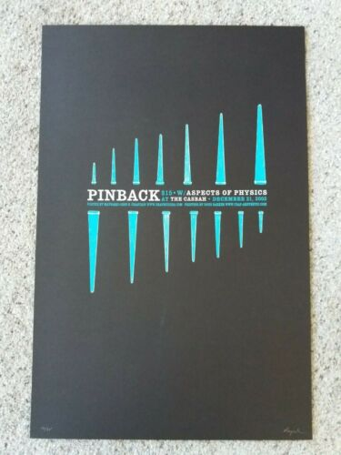 Pinback & Aspects of Physics @ Casbah Concert/Gig Poster - 2003 #16 of 35