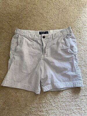 Abercrombie & Fitch Seersucker Men's Classic Prep Fit Shorts Size 30