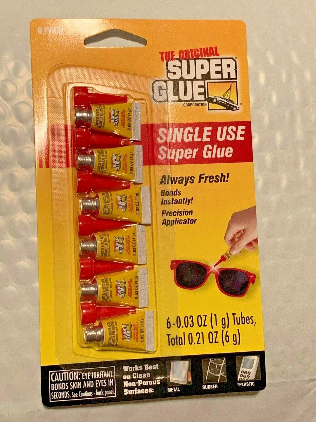 The Original Super Glue High Strength Cyanoacrylate All Purpose Super Glue 6 pk Adhesives & Tape