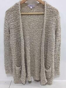 As new cream fluffy cardigan, TEMPT, Size L Coorparoo Brisbane South East Preview