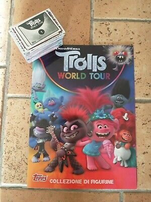 album vuoto trolls world in tour topps + set completo