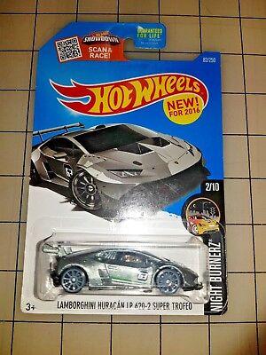 Hot Wheels Lamborghini Huracan LP 620-2 Super Trofeo Silver HW Night Burnerz