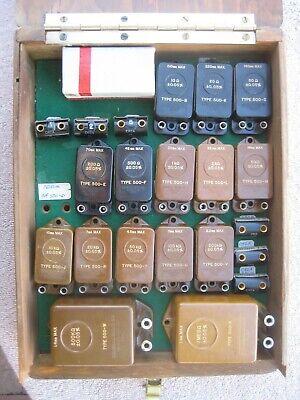 Set Of 21 Vintage Precision Resistors Calibration Standard Hf Impedance Radio