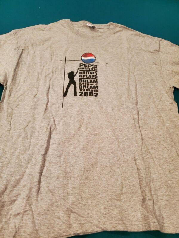 Britney Spears Vintage 2002 Concert Tour Shirt XL RARE