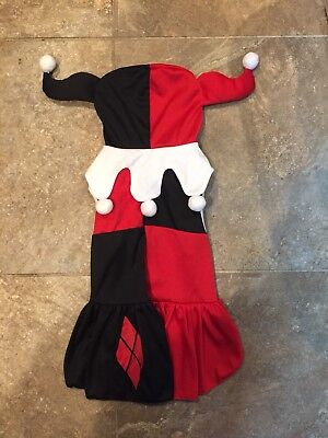 DC COMICS ~ HARLEY QUINN ~ Dog Halloween COSTUME ~ Size Large ~ NWOT