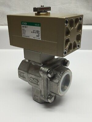 Ckd Chg-32-f Stainless Steel 3 Port Air Operated Double Acting Ball Valve
