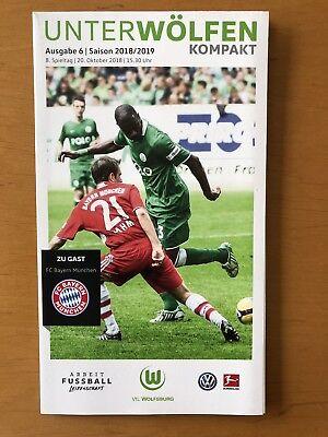Stadionheft Stadionflyer Unter Wölfen VFL Wolfsburg-Bayern München Poster Ginzek gebraucht kaufen  Wolfsburg