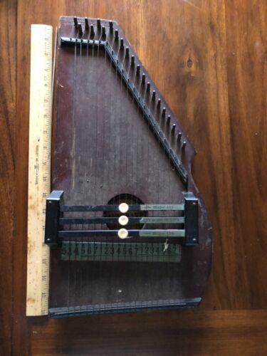 1882 CF Zimmerman miniature autoharp wood damage dirty antique instrument