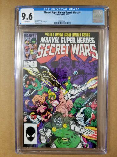 Marvel Super-Heroes Secret Wars #6 CGC 9.6 Mike Zeck art White Pages