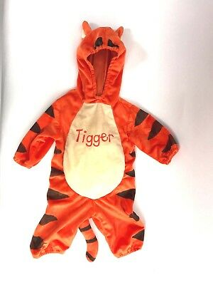 Disney Baby Tigger Hooded One Piece Halloween Costume Toddler 6 9 Months Warm