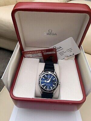 OMEGA Planet Ocean Co-Axial Master Chronometer Men's Black Watch -...