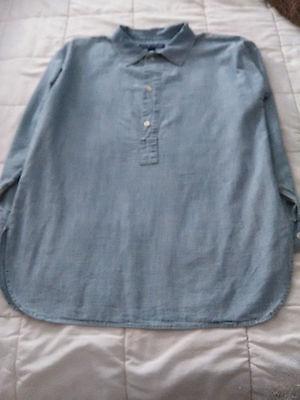 Ralph Lauren Women's Size M Medium Size 6 Long Sleeve Classic Indigo Shirt
