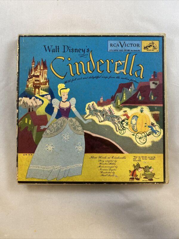 1949 Walt Disney's Cinderella  RCA Victor Book & Record * (H)