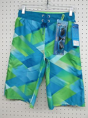 R-way Boy's Board Shorts Swim Trunks - Limeade Green Color - Size: LARGE 14-16