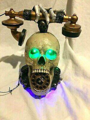 Halloween prop ANIMATED SKULL PHONE, lights, sounds, etc. Super unique prop.